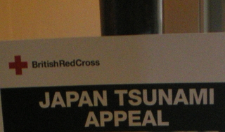 Music event at Piccadilly circus for Japan Tsunami Appeal.
