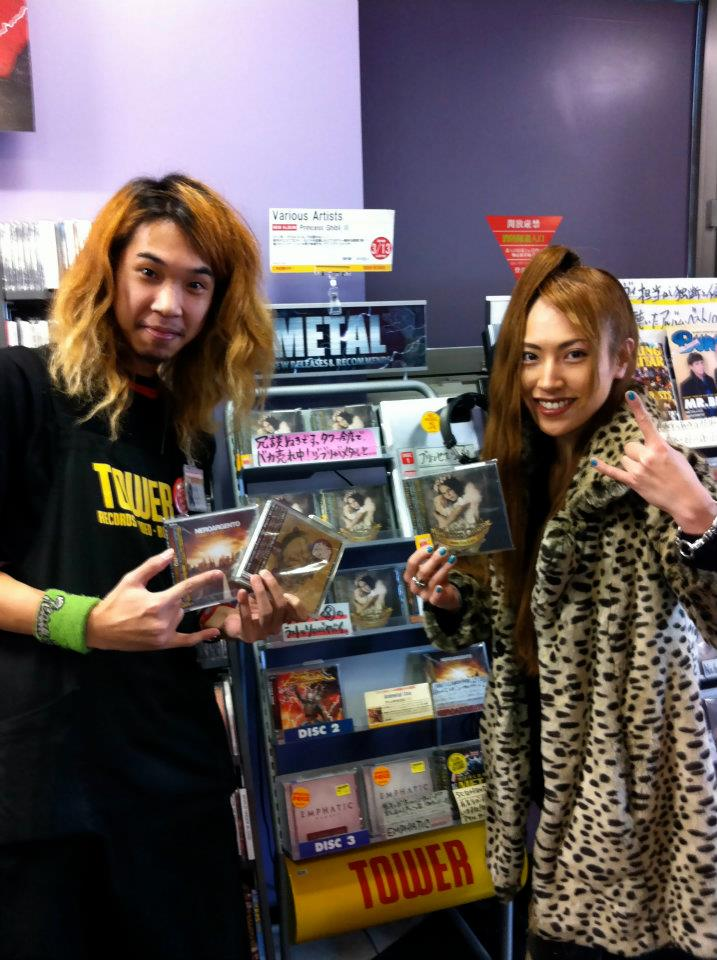 Promotion at Tower Records in Tokyo.